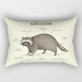 Anatomy of a Raccoon Rectangular Pillow