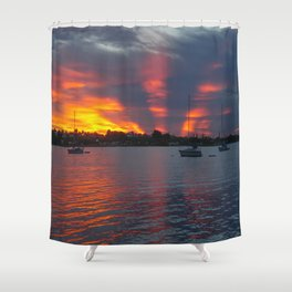 Jensen Beach Sunset Shower Curtain