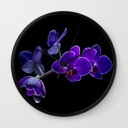 Blue orchid Wall Clock