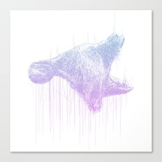 Line Bear Canvas Print