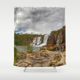 Here comes the rain Shower Curtain