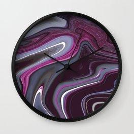Purple Marbling 002 Wall Clock
