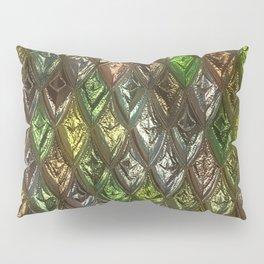 Sparkling Rhombs, green Pillow Sham