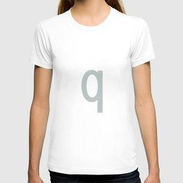 LETTER q (SILVER-WHITE) T-shirt