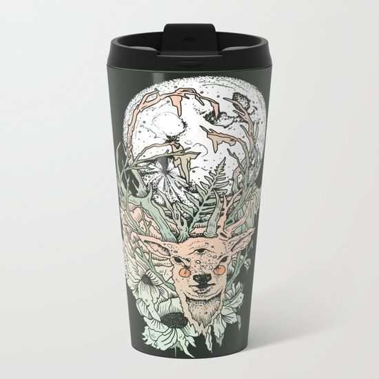 D E E R M O O N Metal Travel Mug