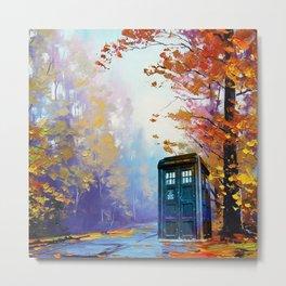 TARDIS PAINTING Metal Print