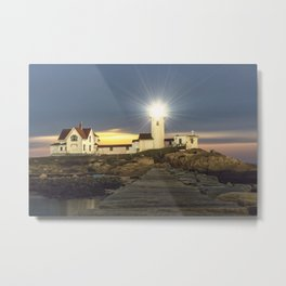Full moon rising over Eastern point Lighthouse #2 Metal Print