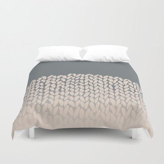 Half Knit Ombre Nat Duvet Cover