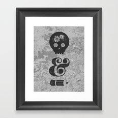 think&draw Framed Art Print