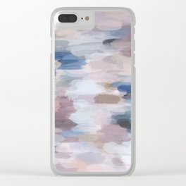 Caught in a Sandstorm Abstract Painting Clear iPhone Case