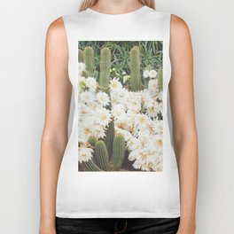 Cactus and Flowers Biker Tank