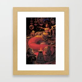 Lizard Queen Framed Art Print