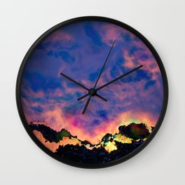 The World On Fire Wall Clock