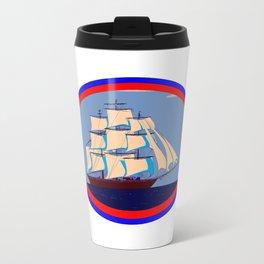 A Nautical Oval Ship Travel Mug