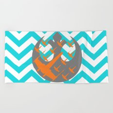 Wraith Squadron and Chevrons in Blue, Gray and Orange Beach Towel