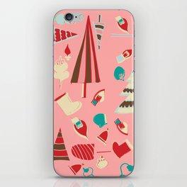 Vintage Christmas Pink iPhone Skin