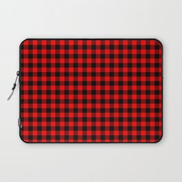 Classic Red Country Cottage Summer Buffalo Plaid Laptop Sleeve