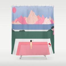 Poolside Views Shower Curtain