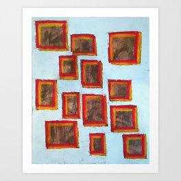 13 Squared (Paintings of God) Art Print
