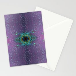 Silicon-based life form - E5 purple Stationery Cards