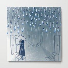 Rainy going home Metal Print