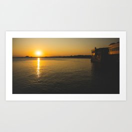 Sunset in Pomorie Art Print