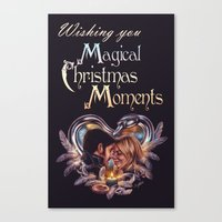 captain swan Canvas Prints featuring Captain Swan Magical Moments - Christmas Card by Svenja Gosen