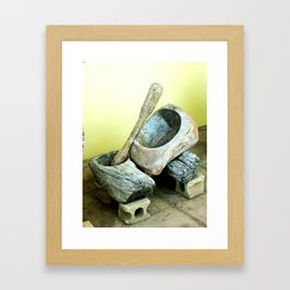 Old Jibaro moledor Framed Art Print