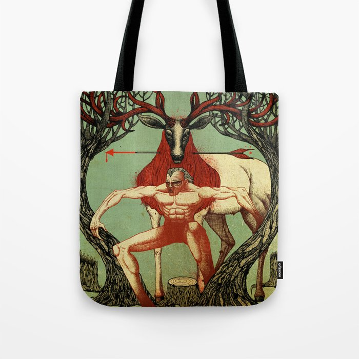 Arrow in the Neck Tote Bag