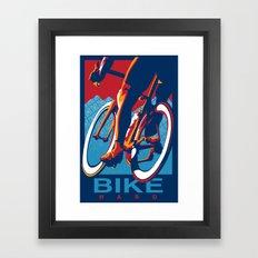 Bike Hard Retro Cycling Print Framed Art Print