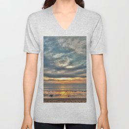 Sunset on the Llyn Peninsula Unisex V-Neck