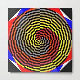 Red Yellow Blue Spiral Metal Print