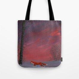 Twilight Fox Tote Bag