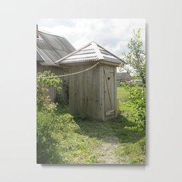 Old backhouse in the garden Metal Print