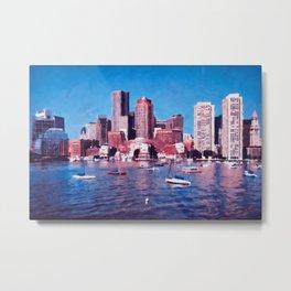 Boston, Panorama Metal Print