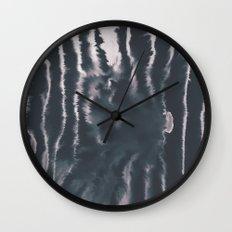 F-Tie dye- blue & white Wall Clock