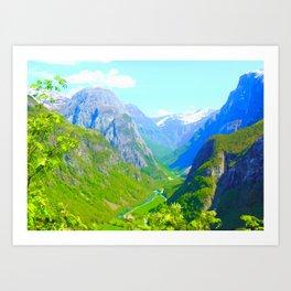 Norwegian Valley Art Print