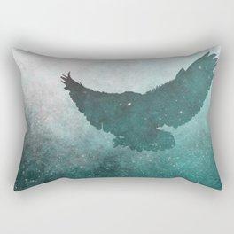 Owl Silhouette | Swooping Owl Ghost | Space Owl Rectangular Pillow