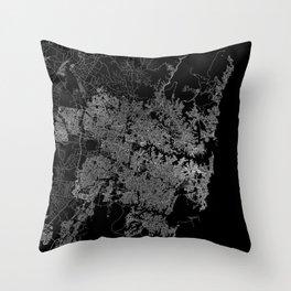 Sydney map Australia Throw Pillow