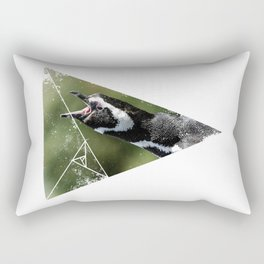 Screaming Penguin Rectangular Pillow