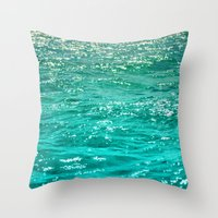 dave grohl Throw Pillows featuring SIMPLY SEA by Catspaws