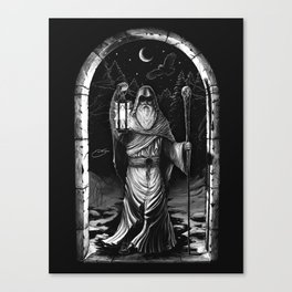 IX. The Hermit Tarot Card Illustration Canvas Print
