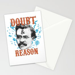 Doubt And Reason | Traits of wise men - Friedrich Nietzsche Stationery Cards