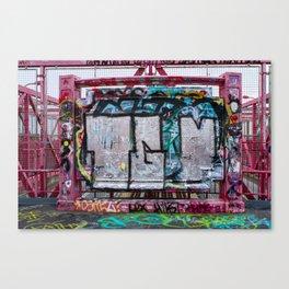 Making Your Mark on the Williamsburg Bridge Canvas Print