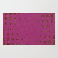 hot pink Area & Throw Rugs featuring Hot Pink by Dorothy Pinder