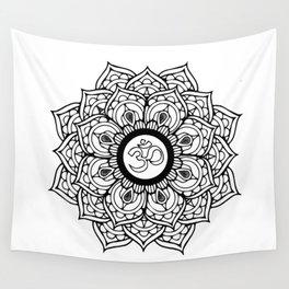 Om Hindu sacred sound symbol Mandala Wall Tapestry