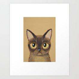 Burmese Cat Art Print