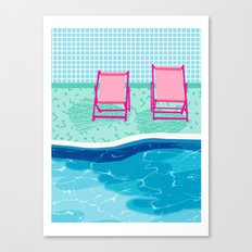 Vay-K - abstract memphis throwback poolside swim team palm springs vacation socal pool hang  Canvas Print
