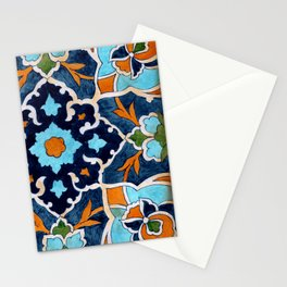 Mediterranean tile Stationery Cards