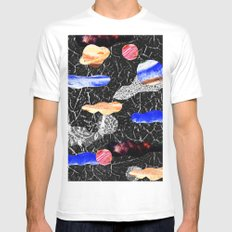 space collage MEDIUM White Mens Fitted Tee